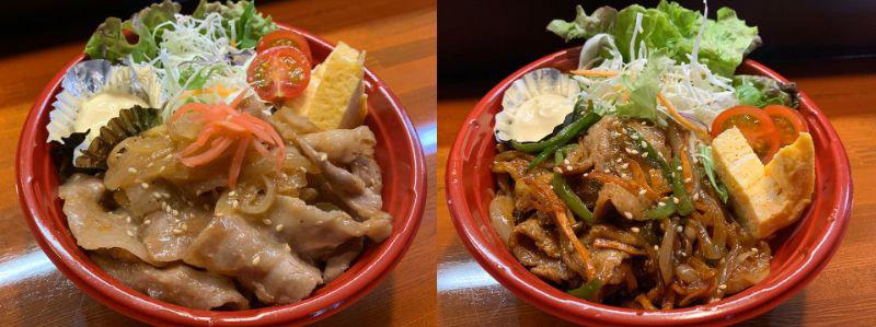 生姜焼丼・焼肉丼