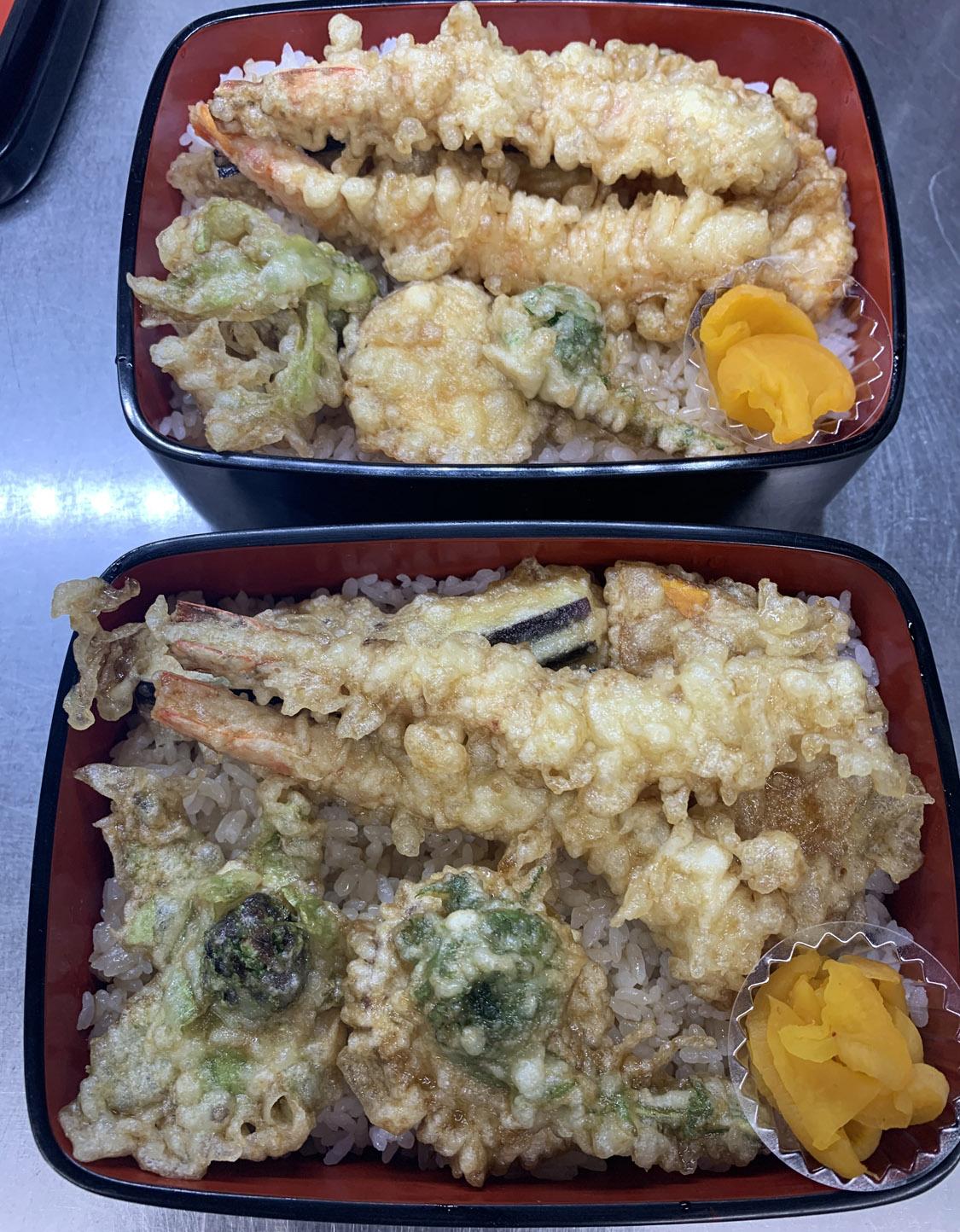 車海老と野菜の天丼